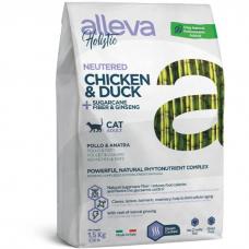Сухой корм для взрослых кошек ALLEVA HOLISTIC HAIRBALL беззерновой с курицей для выведения комочков шерсти 42/18