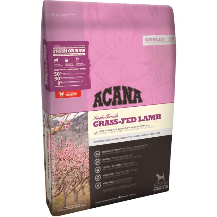 Фото - ACANA GRASS-FED LAMB беззерновой гипоаллергенный с ягненком для собак всех пород и возрастов