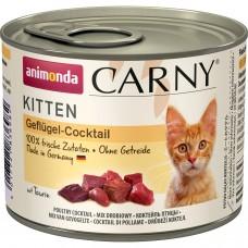 ANIMONDA CARNY KITTEN КОКТЕЙЛЬ ИЗ МЯСА ПТИЦЫ консервы для котят 200г
