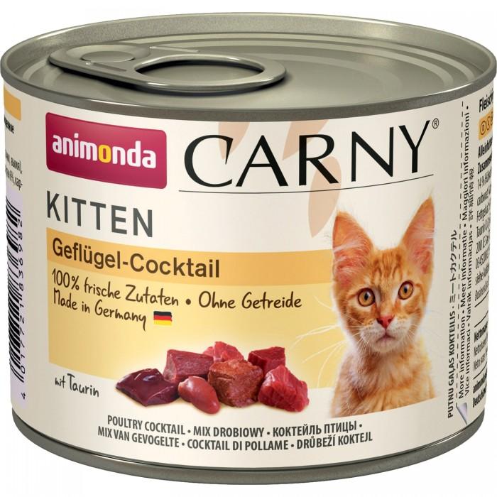 Фото - ANIMONDA CARNY KITTEN КОКТЕЙЛЬ ИЗ МЯСА ПТИЦЫ консервы для котят 200г