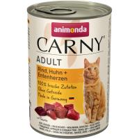 Консервы для взрослых кошек ANIMONDA CARNY ADULT беззерновые с курицей и уткой 400г