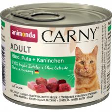 ANIMONDA CARNY ADULT с индейкой и кроликом консервы для взрослых кошек