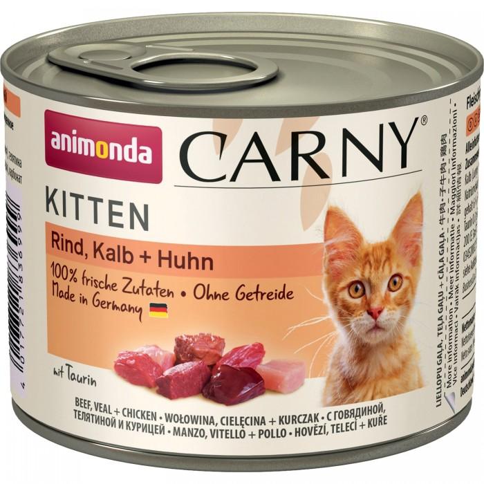 Фото - ANIMONDA CARNY KITTEN с говядиной, телятиной и курицей консервы для котят 200г