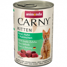 Консервы для котят ANIMONDA CARNY KITTEN беззерновые с курицей и кроликом 400г