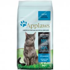 Сухой корм для взрослых кошек APPLAWS беззерновой с океанической рыбой и лососем 34/15