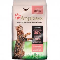 Сухой корм для взрослых кошек APPLAWS беззерновой с лососем и курицей 37/20