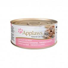 APPLAWS TUNA FILLET&PRAWN с филе тунца и креветками консервы для кошек