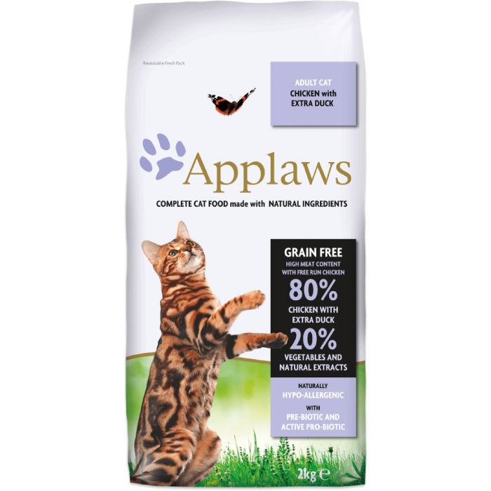 Фото - APPLAWS беззерновой с уткой и курицей для взрослых кошек