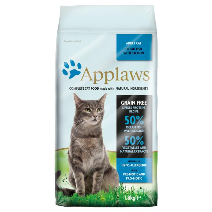 Фото - APPLAWS беззерновой с океанической рыбой и лососем для взрослых кошек