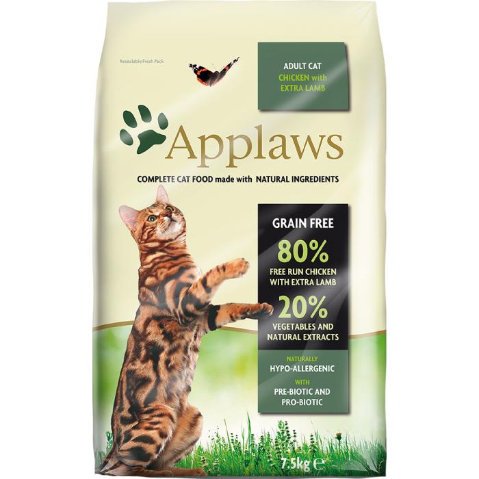 Фото - APPLAWS беззерновой с ягненком и курицей для взрослых кошек