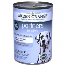ARDEN GRANGE PARTNERS с океанической белой рыбой и картофелем консервы для собак 395г