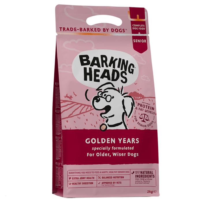 Фото - BARKING HEADS ЗОЛОТЫЕ ГОДЫ с курицей и рисом для собак старше 7 лет