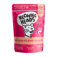 MEOWING HEADS ФИШ-ГУРМАН с лососем, курицей и говядиной для кошек и котят пауч 100г