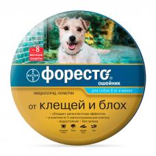 BAYER ФОРЕСТО инсектоакарицидный ошейник для собак весом до 8кг