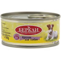 Консервы для собак BERKLEY LOCAL №2 КРОЛИК беззерновые 100г