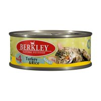BERKLEY CAT ADULT #4 Консервы с индейкой и рисом для кошек 100г