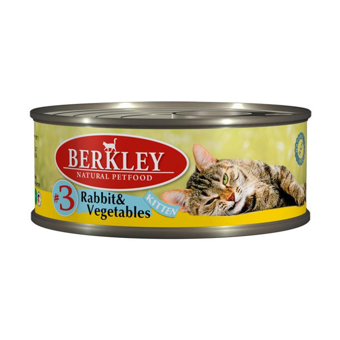 Фото - BERKLEY KITTEN #3 Консервы  с кроликом и овощами для котят 100г