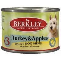BERKLEY DOG #3 Индейка с Яблоками для собак консервы 200г