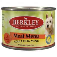 BERKLEY DOG #4 Ягнёнок с Рисом для собак консервы 200г
