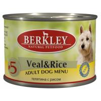 BERKLEY DOG #5 Телятина с Рисом для собак консервы 200г