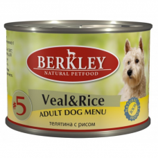 BERKLEY DOG #5 Телятина с Рисом для собак консервы 200г