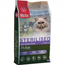 BLITZ HOLISTIC КУРИЦА И ПЕЧЕНЬ для стерилизованных кошек всех пород
