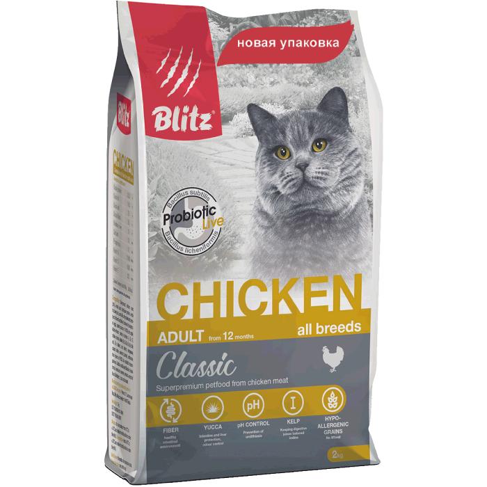 Фото - BLITZ Adult Cats Chicken с курицей для кошек