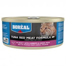 BOREAL с красным мясом тунца, морковью и зеленым горошком в соусе консервы для кошек 80г