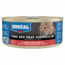Консервы для кошек всех возрастов BOREAL беззерновые с красным мясом тунца и креветками в соусе