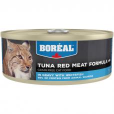 Консервы для кошек всех возрастов BOREAL беззерновые с красным мясом тунца и белой рыбой в соусе 156г