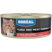 Консервы для кошек всех возрастов BOREAL беззерновые с красным мясом тунца и креветками в соусе 156г