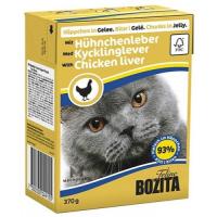 BOZITA кусочки c куриной печенью в желе для кошек консервы 370г
