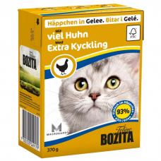 Консервы для кошек всех возрастов BOZITA EXTRA CHICKEN беззерновые с рубленой курицей в желе 370г