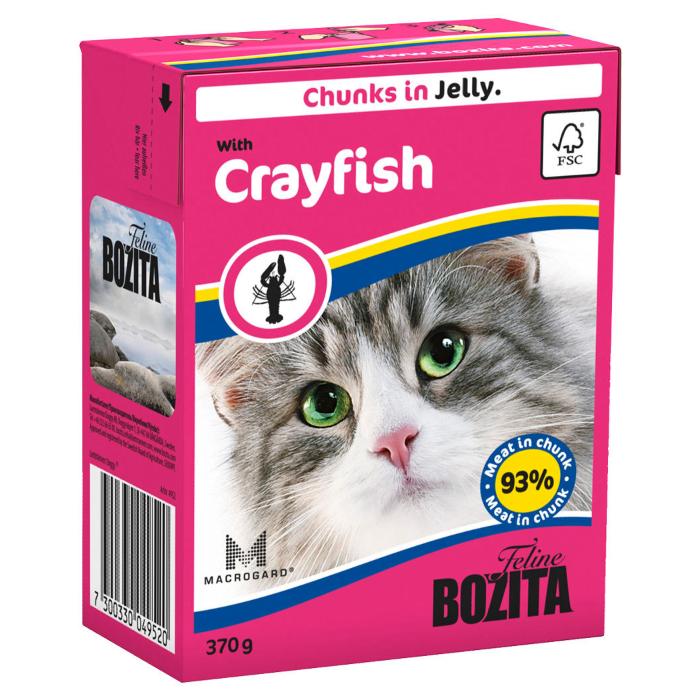 Фото - BOZITA кусочки с лангустом в желе для кошек консервы 370г