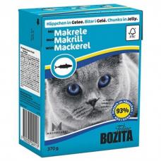BOZITA кусочки со скумбрией в желе для кошек консервы 370г