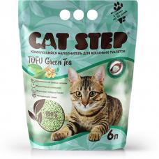 CAT STEP TOFU GREEN TEA наполнитель растительный комкующийся c ароматом зеленого чая