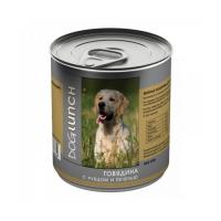 DOG LUNCH ГОВЯДИНА С РУБЦОМ И ПЕЧЕНЬЮ консервы для собак
