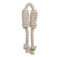 DOGLIKE САРДЕЛЬКА ДВОЙНАЯ канатная средняя белая игрушка для собак