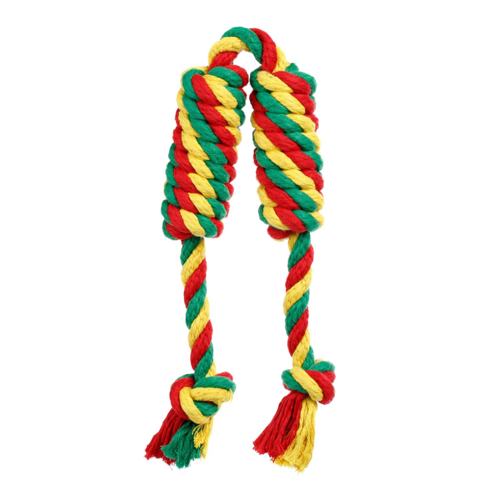 Фото - DOGLIKE САРДЕЛЬКА ДВОЙНАЯ канатная средняя цветная игрушка для собак