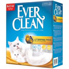 EVER CLEAN Less Trail с ароматизатором наполнитель комкующийся для длинношерстных кошек 10кг