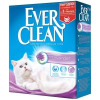 EVER CLEAN Lavende Лаванда с ароматизатором наполнитель комкующийся 10кг