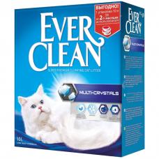 EVER CLEAN Multi Crystals без ароматизатора наполнитель комкующийся с кристаллами для максимального контроля запаха