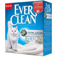 EVER CLEAN TOTAL COVER без ароматизатора высоким уровнем покрытия наполнитель комкующийся 10л