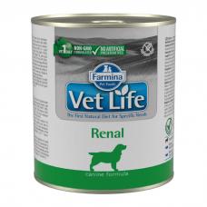 FARMINA VET LIFE RENAL для лечения заболеваний почек у собак консервы 300г