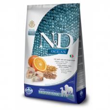 FARMINA N&D OCEAN с треской, спельтой, овсянкой и апельсином для собак средних и крупных пород