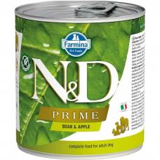Консервы для взрослых собак всех пород FARMINA N&D DOG PRIME беззерновые с кабаном и яблоком 285г