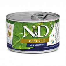 FARMINA N&D DOG PRIME беззерновые с ягненком и черникой консервы для собак мелких пород 140г