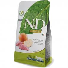 Сухой корм для взрослых кошек FARMINA N&D GRAIN FREE беззерновой с мясом дикого кабана и яблоком 44/20