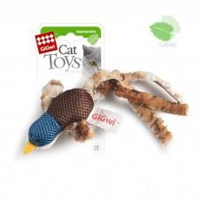 GIGWI УТКА С КОШАЧЬЕЙ МЯТОЙ текстильная игрушка для кошек
