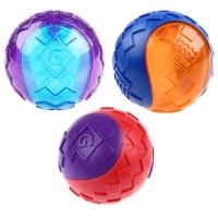 GIGWI G-BALL Мяч рельефный резиновый с пищалкой